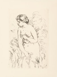 Pierre-Auguste Renoir (French, 1841-1919) Baigneuse, circa 1910 Etching 6-1/2 x 4-1/2 inches (16
