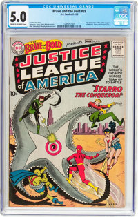 The Brave and the Bold #28 Justice League of America (DC, 1960) CGC VG/FN 5.0 Cream to off-white pages