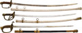 Edged Weapons:Swords, Lot of Three U.S. Military Swords.... (Total: 3 Items)