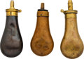 Ammunition, Lot of Three Collectible Powder Flasks.... (Total: 3 Items)