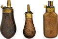 Ammunition, Lot of Three Small Powder Flasks.... (Total: 3 Items)