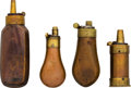 Ammunition, Lot of Four Small Powder Flasks.... (Total: 4 Items)
