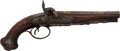 Handguns:Muzzle loading, French Charleville Double Barrel Percussion Pistol....