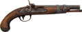 Handguns:Muzzle loading, U.S. Martial Model 1816 Percussion Pistol by S. North....