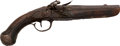 Handguns:Muzzle loading, Engraved and Craved Flintlock Pistol....