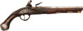 Handguns:Muzzle loading, Brescian Chiseled Steel Belt Flintlock Pistol Marked Retori....