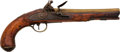 Handguns:Muzzle loading, English Brass Barreled Flintlock Pistol by W. Ketland & Co....