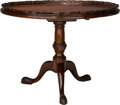Furniture , A Large George III Mahogany Tilt-Top Breakfast Table, late 18th century with later elements. 30-1/2 inches high x 40 inches ...