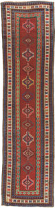 Rugs & Textiles:Other , A Russian Kazak Runner, circa 1910. 11 feet 8 in. long x 3 feetwide. ...