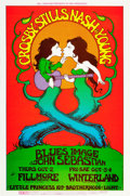 Music Memorabilia:Posters, Crosby, Stills, Nash & Young Fillmore West/Winterland ConcertPoster BG-194 (Bill Graham Presents, 1969)....
