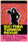 Music Memorabilia:Posters, Ike & Tina Turner Vancouver Agrodome Concert Poster (1970)....