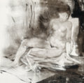 Fine Art - Painting, American:Contemporary   (1950 to present)  , Attributed to Endre Szasz (Hungarian, 20th Century). Nude.Mixed media on panel. 22 x 22 inches (55.9 x 55.9 cm). ...