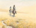 Fine Art - Painting, American:Contemporary   (1950 to present)  , Russ Vickers (American, b. 1923). Cowboys. Oil on canvas. 22x 28 inches (55.9 x 71.1 cm). Signed lower right: Russ Vi...