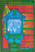 Music Memorabilia:Posters, Jefferson Airplane/Grateful Dead/Big Brother and the HoldingCompany Hollywood Bowl Concert Poster BG-81 (Bill Graham, 1967)....