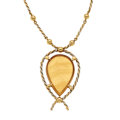 Estate Jewelry:Necklaces, Agate, Gold Necklace, Cartier . ...