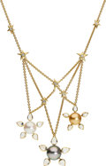 Estate Jewelry:Necklaces, South Sea Cultured Pearl, Diamond, Moonstone, Gold Necklace,Assael. ...