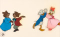 Animation Art:Production Cel, Mickey's Christmas Carol Ebenezer Scrooge and IsabelProduction Cel (Walt Disney, 1983)....