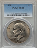 Eisenhower Dollars, 1978 $1 MS66+ PCGS. PCGS Population: (472/6 and 28/0+). NGC Census: (201/5 and 1/0+). Mintage 25,702,000. ...