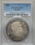 Coins of Hawaii , 1883 $1 Hawaii Dollar AU53 PCGS. PCGS Population: (38/185). NGCCensus: (24/178). Mintage 46,348. ...
