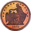 Patterns, 1872 25C Amazonian Quarter Dollar, Judd-1196, Pollock-1336, R.7,PR66 Red and Brown PCGS....