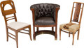 Furniture : French, Three Various Arm and Side Chairs. 20th century. Ht. 39 in; 35 in;33 in.. PROPERTY FROM THE ESTATE OF ROBERT GINGOLD. ... (Total: 3Items)