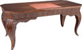 Furniture : Continental, Austrian Carved Mahogany Desk. Designed by Otto Prutscher.Produced at Kunstgewerbe Schule & Museum fur Kunst &Indust...