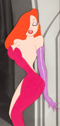 Animation Art:Production Cel, Who Framed Roger Rabbit Jessica Rabbit Production Cel (Disney/Touchstone, 1988). ...