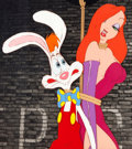 Animation Art:Production Cel, Who Framed Roger Rabbit Roger Rabbit and Jessica Rabbit Production Cel Setup (Disney/Touchstone, 1988). ...