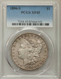 Morgan Dollars: , 1896-S $1 XF45 PCGS. PCGS Population: (241/2009). NGC Census: (168/1031). Mintage 5,000,000. ...