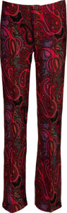 Music Memorabilia:Costumes, Jimi Hendrix Owned and Worn Paisley Bell-Bottom Pants (Circa1967-70)....