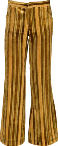 Music Memorabilia:Costumes, Jimi Hendrix Owned and Worn Velour Bell-Bottom Pants (Circa 1967-70)....