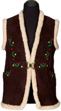 Music Memorabilia:Costumes, Jimi Hendrix Owned and Worn Brown Suede Vest (Circa 1967-70)....