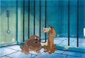 Animation Art:Production Cel, Lady and the Tramp Bull and Toughy Production Cel Setup(Walt Disney, 1955)....