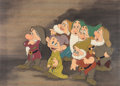 Animation Art:Presentation Cel, Snow White and the Seven Dwarfs Courvoisier Cel Setup (WaltDisney, 1937). ...
