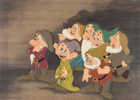 Snow White and the Seven Dwarfs Courvoisier Cel Setup (Walt Disney, 1937)