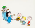 Animation Art:Production Cel, You're a Good Sport, Charlie Brown Multi-CharacterProduction Cel Setup and Animation Drawings Group (Bill Melendez,1... (Total: 2 Items)