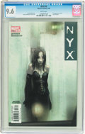 Modern Age (1980-Present):Science Fiction, NYX #3 (Marvel, 2004) CGC NM+ 9.6 White pages....