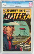 Golden Age (1938-1955):Horror, Journey Into Mystery #25 (Marvel, 1955) CGC VF- 7.5 Cream tooff-white pages....
