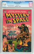 Golden Age (1938-1955):Science Fiction, Mystery in Space #6 (DC, 1952) CGC FN/VF 7.0 Off-white pages....