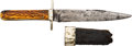 Edged Weapons:Knives, Antique Stag Handle Knife....
