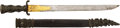 Edged Weapons:Swords, Mid-19th Century Ornate German Hunting Sword With Damascus Blade....