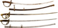 Edged Weapons:Swords, Lot of Three Model 1872 Cavalry Officers' Sabers.... (Total: 3 Items)