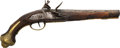 Handguns:Muzzle loading, Engraved English Flintlock Pistol....