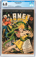 Golden Age (1938-1955):Science Fiction, Planet Comics #22 (Fiction House, 1943) CGC FN 6.0 Cream tooff-white pages....