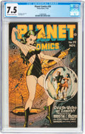 Golden Age (1938-1955):Science Fiction, Planet Comics #39 (Fiction House, 1945) CGC VF- 7.5 Off-white towhite pages....