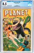 Golden Age (1938-1955):Science Fiction, Planet Comics #42 (Fiction House, 1946) CGC VF+ 8.5 Cream tooff-white pages....