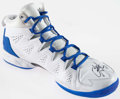 Basketball Collectibles:Others, 2014 Carmelo Anthony Game Worn, Signed Shoe. ...