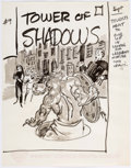 Original Comic Art:Miscellaneous, Marie Severin Tower of Shadows #9 Cover Preliminary Artwork(Marvel, 1971)....