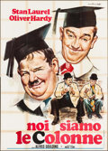 "Movie Posters:Comedy, A Chump at Oxford (Magic Films, R-1951). Italian 4 - Fogli (55.25"" X 77.25""). Comedy.. ..."
