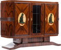 Furniture : French, An Art Deco-Style Console Cabinet with an Egyptian Motif, 20th century. 38-1/2 h x 50 w x 16-1/2 d inches (97.8 x 127 x 41.9...